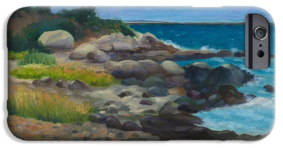 Landscape IPhone 6 Case featuring the painting Meigs Point by Paula Emery