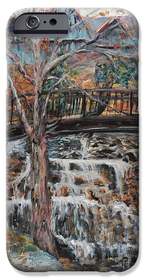Waterfalls IPhone 6 Case featuring the painting Memories by Nadine Rippelmeyer