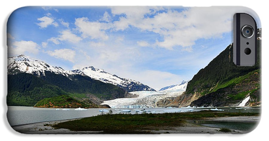 Mendenhall IPhone 6 Case featuring the photograph Mendenhall Glacier by Keith Gondron