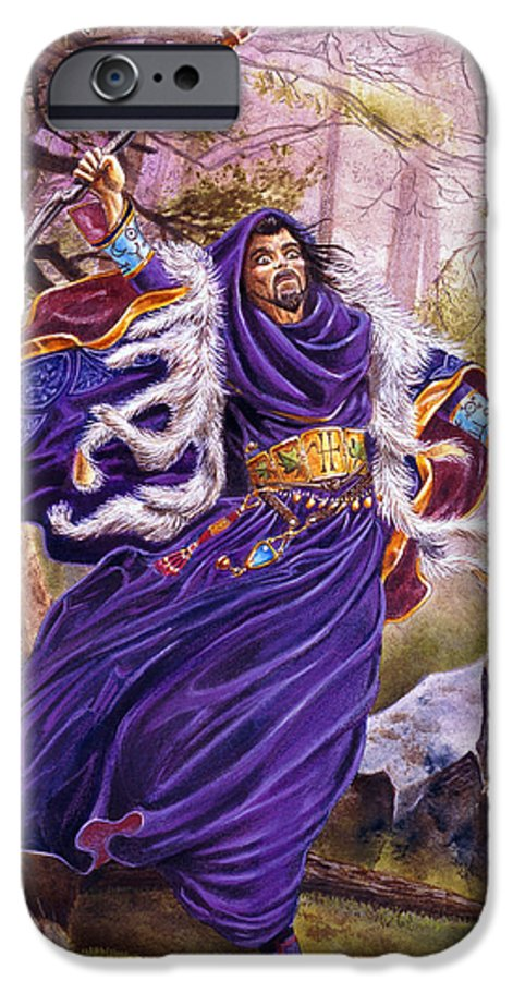 Artwork IPhone 6 Case featuring the painting Merlin by Melissa A Benson