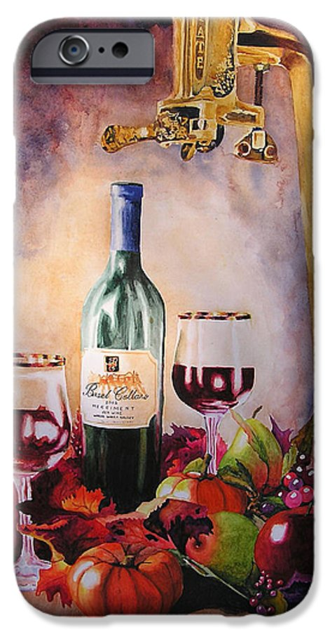 Wine IPhone 6 Case featuring the painting Merriment by Karen Stark