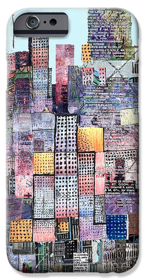 Metro IPhone 6 Case featuring the digital art Metropolis 3 by Andy Mercer