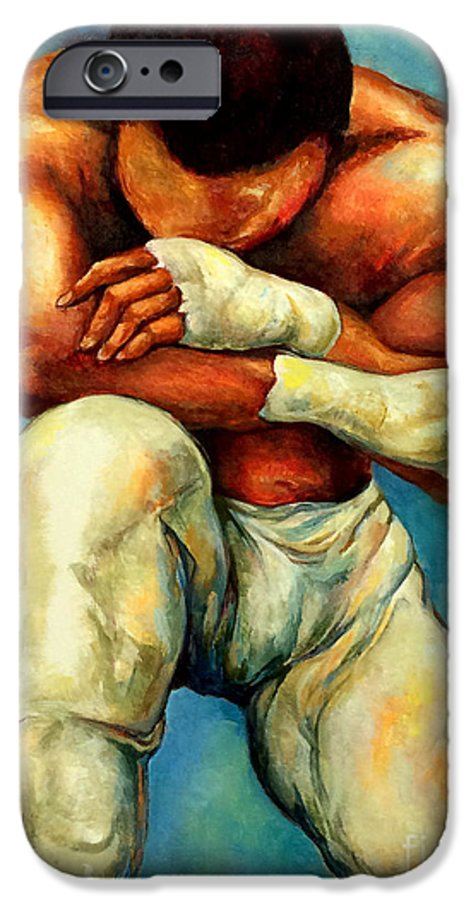 Lloyd Debery IPhone 6 Case featuring the painting Michael Original by Lloyd DeBerry