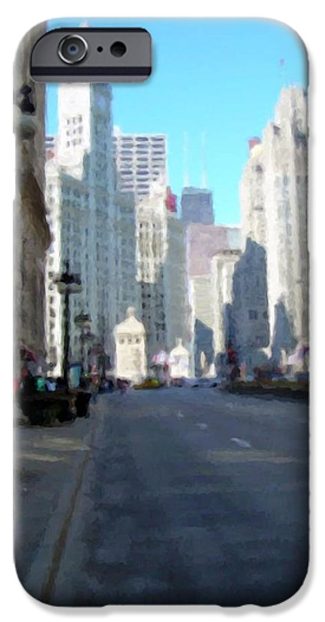 Chicago IPhone 6 Case featuring the digital art Michigan Ave Tall by Anita Burgermeister