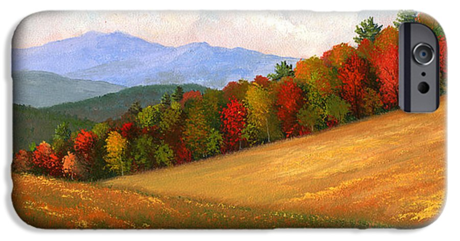 Landscape IPhone 6 Case featuring the painting Mid Autumn by Frank Wilson
