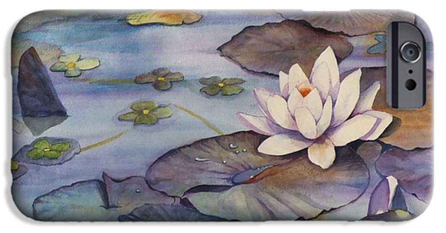 Lily IPhone 6 Case featuring the painting Midnight Lily by Jun Jamosmos