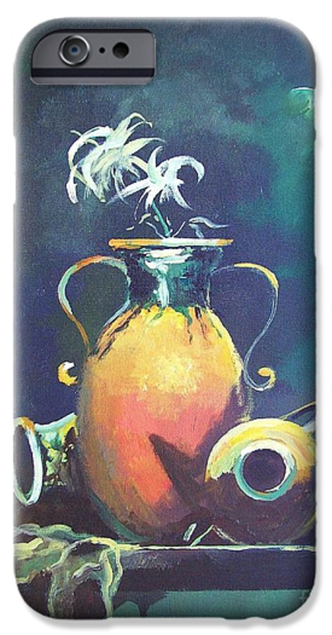 Still Life IPhone 6 Case featuring the painting Midnight Moon by Sinisa Saratlic
