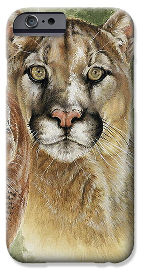 Cougar IPhone 6 Case featuring the mixed media Mighty by Barbara Keith