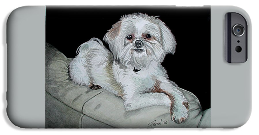 Dog IPhone 6 Case featuring the painting Miki Dog by Ferrel Cordle