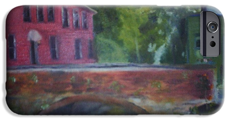 Mill Street IPhone 6 Case featuring the painting Mill Street Plein Aire by Sheila Mashaw