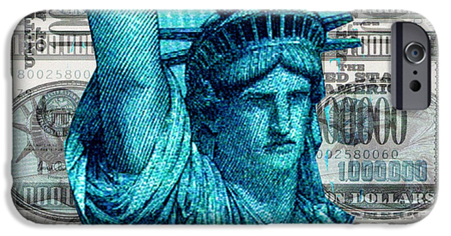 Millions IPhone 6 Case featuring the digital art Million Dollar Pile by Seth Weaver