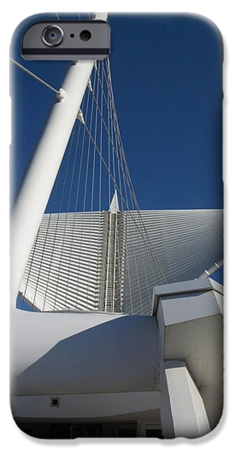 Mam IPhone 6 Case featuring the photograph Milwaukee Art Museum Cropped by Anita Burgermeister
