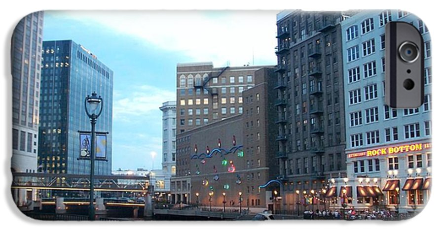 Milwaukee IPhone 6 Case featuring the photograph Milwaukee River Walk by Anita Burgermeister