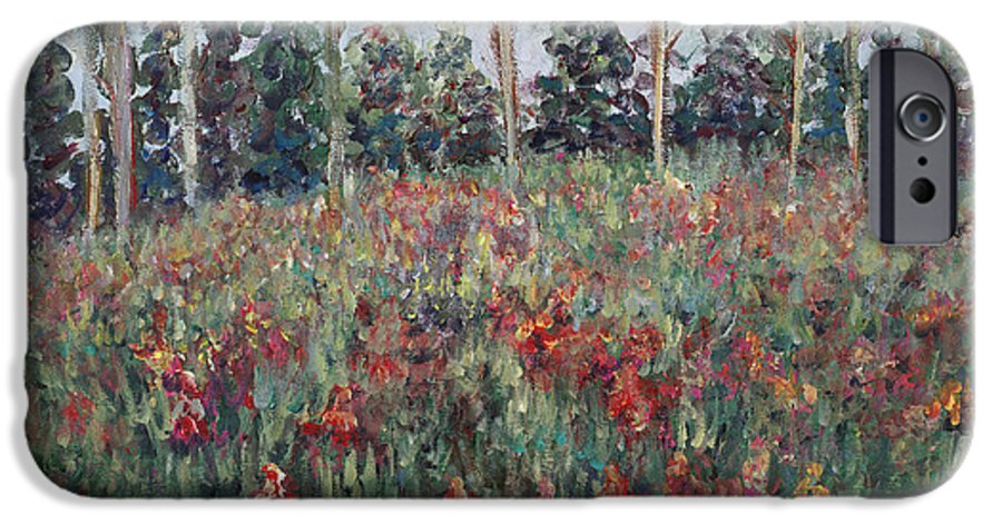 Landscape IPhone 6 Case featuring the painting Minnesota Wildflowers by Nadine Rippelmeyer