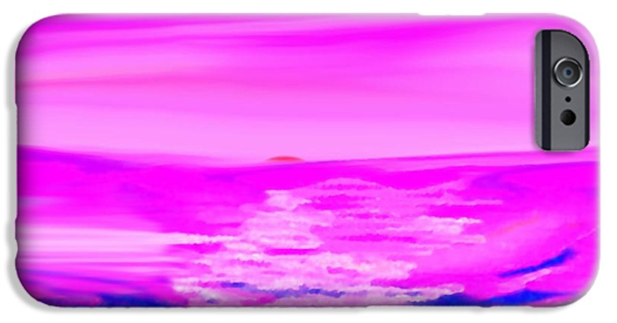 Sunset IPhone 6 Case featuring the digital art Miracle Sunset-sun And Sky In One Dance by Dr Loifer Vladimir
