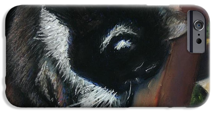 Cat IPhone 6 Case featuring the painting Kitty Chair by Minaz Jantz