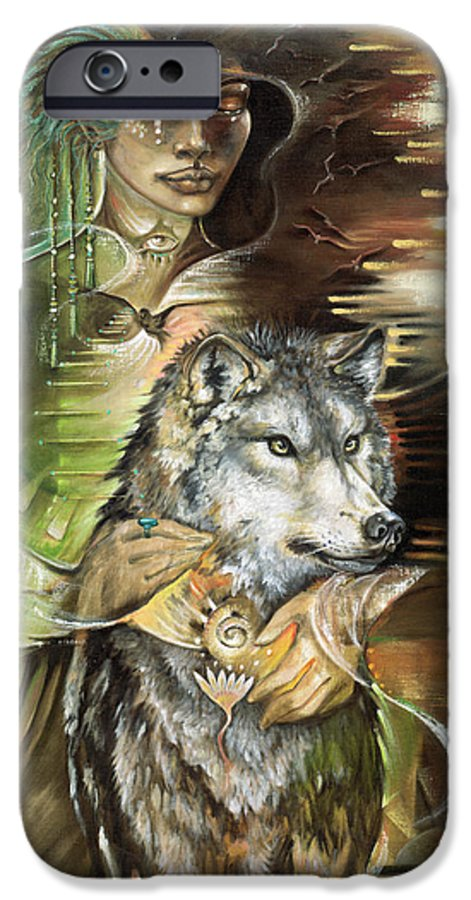 Animals IPhone 6 Case featuring the painting Missing You Susan Boulet by Blaze Warrender