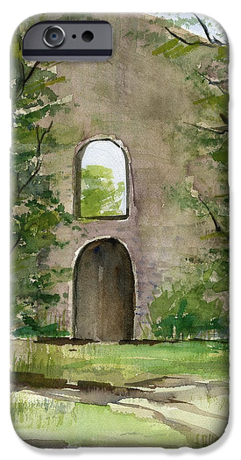 Mission IPhone 6 Case featuring the painting Mission Wall by Arline Wagner