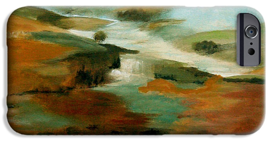 Abstract IPhone 6 Case featuring the painting Misty Hills by Ruth Palmer