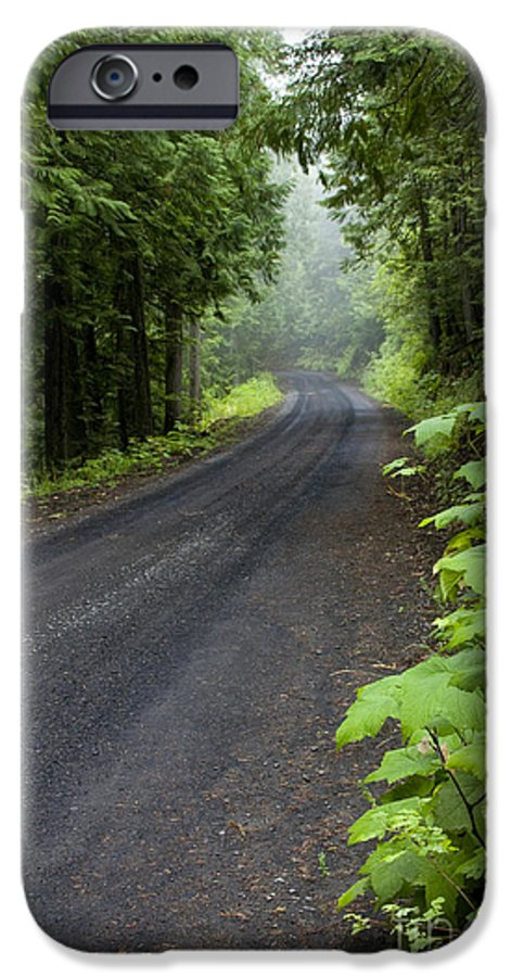 Road IPhone 6 Case featuring the photograph Misty Mountain Road by Idaho Scenic Images Linda Lantzy