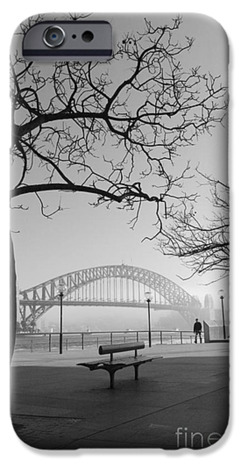 Sydney Harbour Bridge Mist Australia IPhone 6 Case featuring the photograph Misty Sydney Morning by Sheila Smart Fine Art Photography
