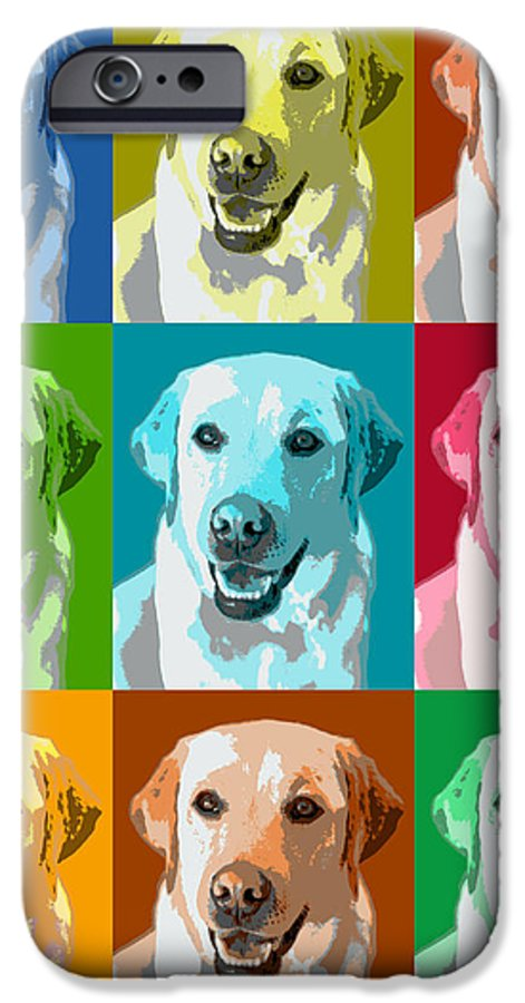 Americana IPhone 6 Case featuring the photograph Golden Retriever Warhol by Marilyn Hunt