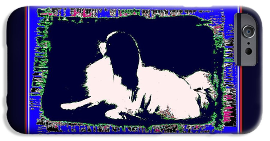 Mod Dog IPhone 6 Case featuring the digital art Mod Dog by Kathleen Sepulveda