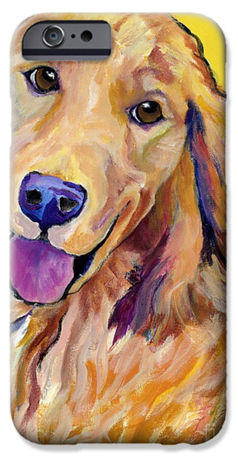 Acrylic Paintings IPhone 6 Case featuring the painting Molly by Pat Saunders-White