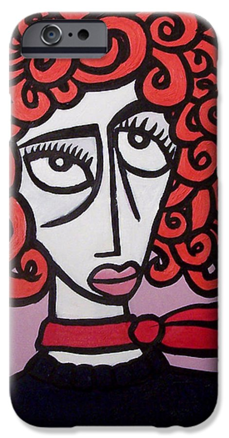 Portaits IPhone 6 Case featuring the painting Molly by Thomas Valentine