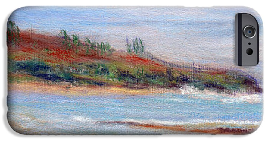 Coastal Decor IPhone 6 Case featuring the painting Moloa'a Beach by Kenneth Grzesik