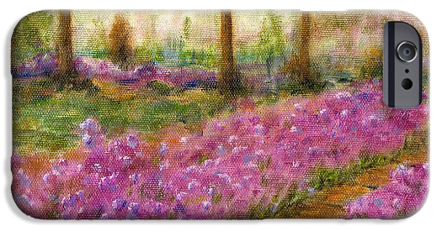 Monet IPhone 6 Case featuring the painting Monet's Garden In Cannes by Jerome Stumphauzer