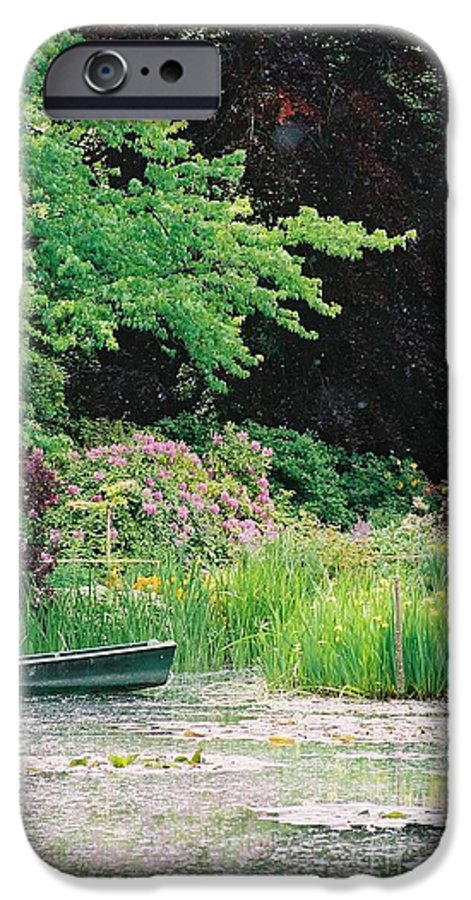 Monet IPhone 6 Case featuring the photograph Monet's Garden Pond And Boat by Nadine Rippelmeyer