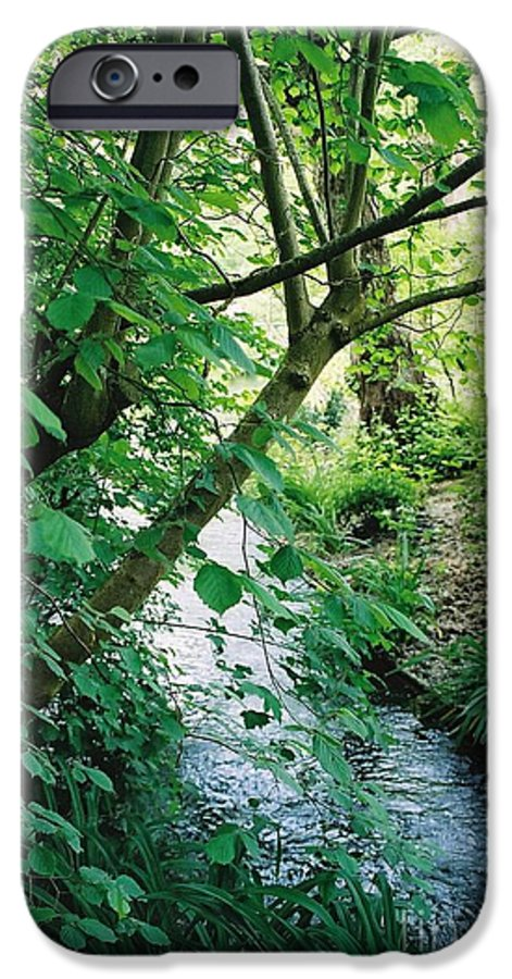 Photography IPhone 6 Case featuring the photograph Monet's Garden Stream by Nadine Rippelmeyer