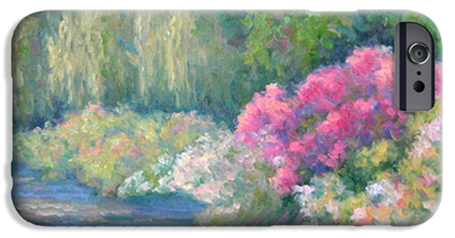 Pond IPhone 6 Case featuring the painting Monet's Pond by Bunny Oliver