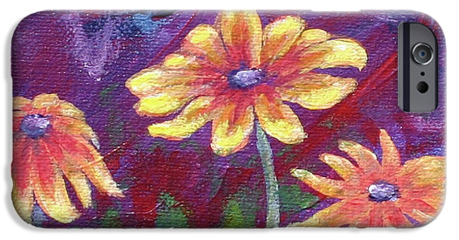Small Acrylic Painting IPhone 6 Case featuring the painting Monet's Small Composition by Jennifer McDuffie