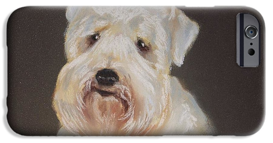 Pet IPhone 6 Case featuring the painting Monique's Bailey by Carol Mueller