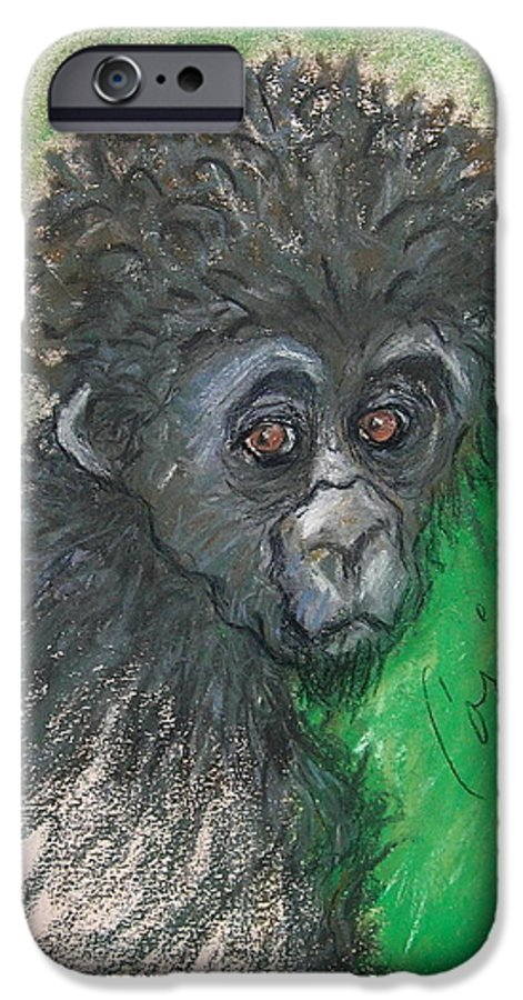 Monkey IPhone 6 Case featuring the drawing Monkey Business by Cori Solomon