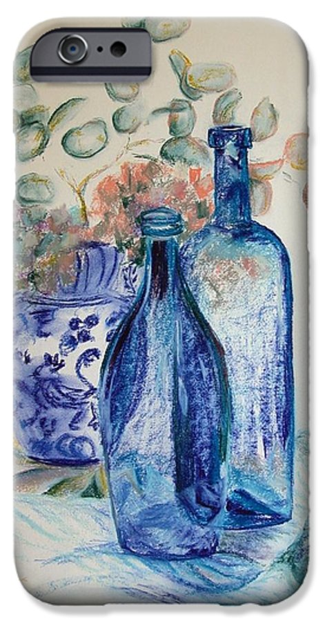 Still Life IPhone 6 Case featuring the drawing Monnaie Bleue by Muriel Dolemieux