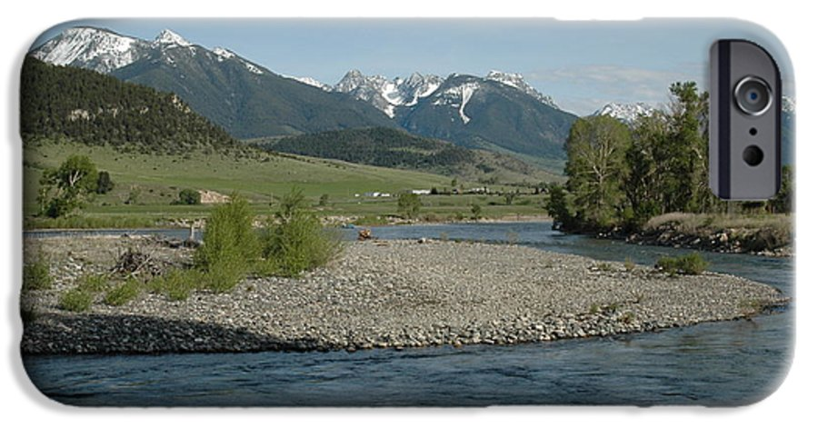 Stream IPhone 6 Case featuring the photograph Montana Stream by Kathy Schumann