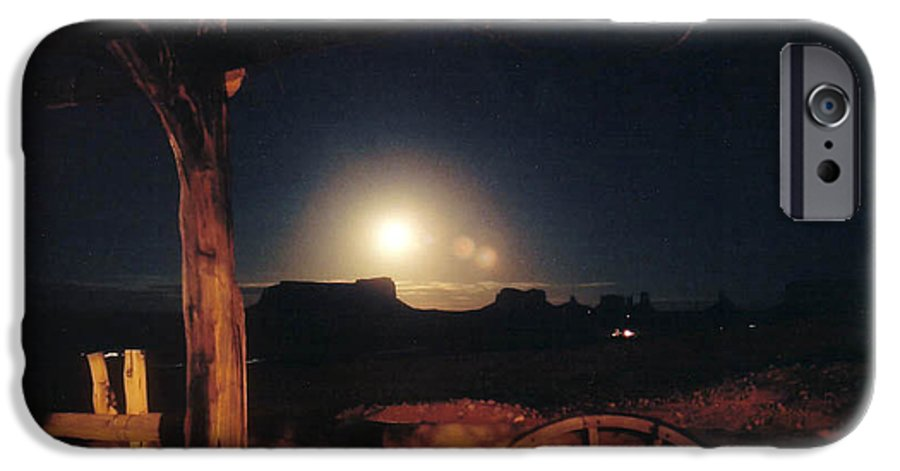 Landscape IPhone 6 Case featuring the photograph Monument Moonrise by Cathy Franklin