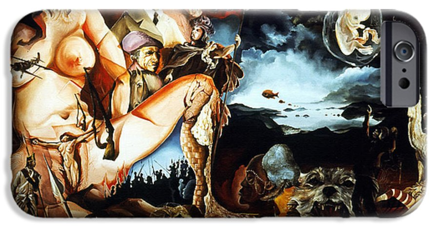 War IPhone 6 Case featuring the painting Monument To The Unborn War Hero by Otto Rapp