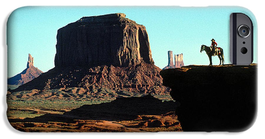 Man IPhone 6 Case featuring the photograph Monument Valley by Carl Purcell