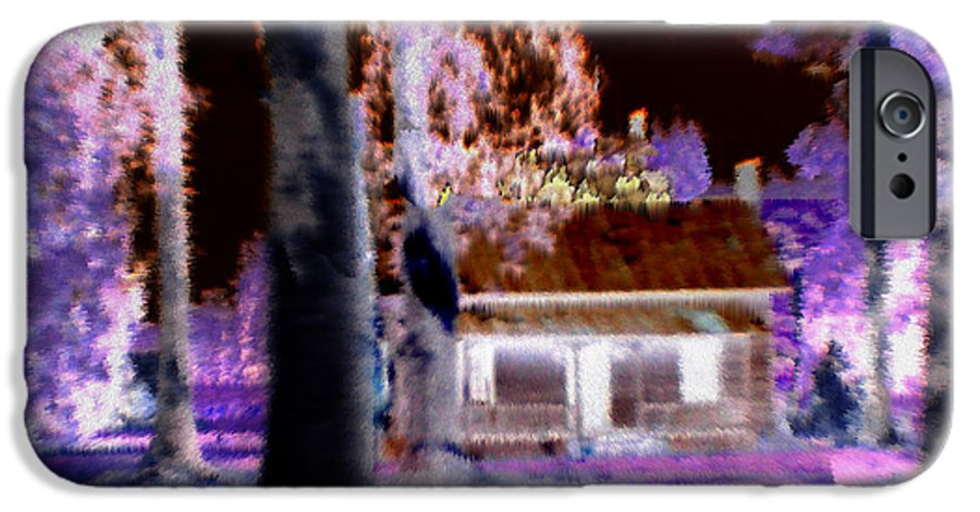 Cabin IPhone 6 Case featuring the digital art Moonlight Cabin by Seth Weaver