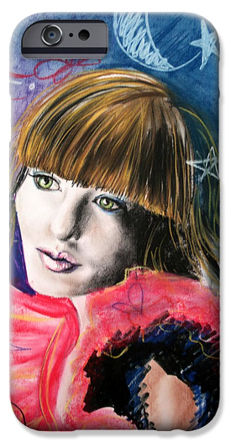 Portrait IPhone 6 Case featuring the drawing Moonlight Glam by Maryn Crawford