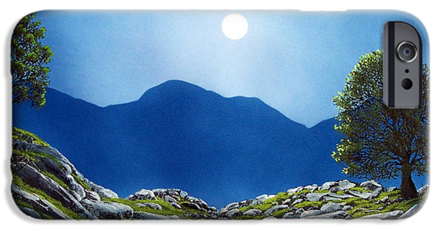 Landscape IPhone 6 Case featuring the painting Moonrise by Frank Wilson