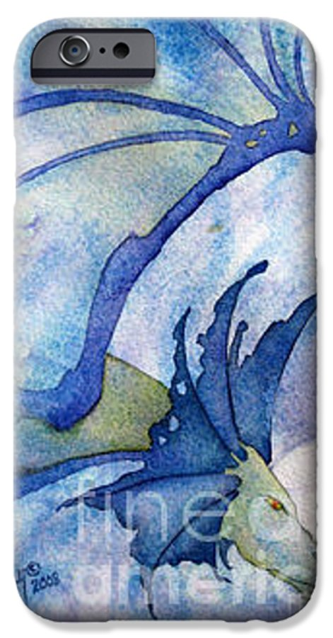 Dragon IPhone 6 Case featuring the painting Moonstone Dragon - Sold by Wendy Froshay