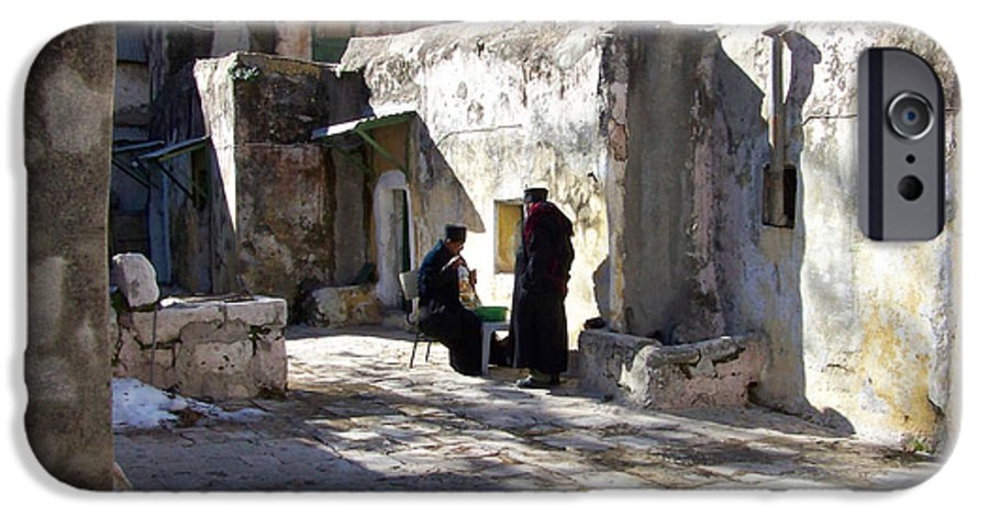 Jerusalem IPhone 6 Case featuring the photograph Morning Conversation by Kathy McClure