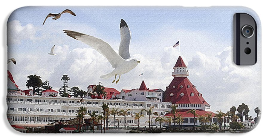 Beach IPhone 6 Case featuring the photograph Morning Gulls On Coronado by Margie Wildblood