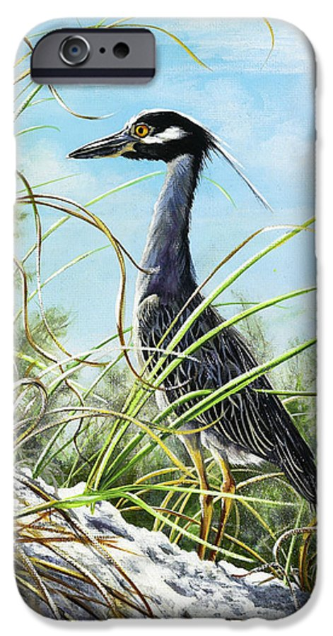Bird IPhone 6 Case featuring the painting Morning Hunt by Joan Garcia