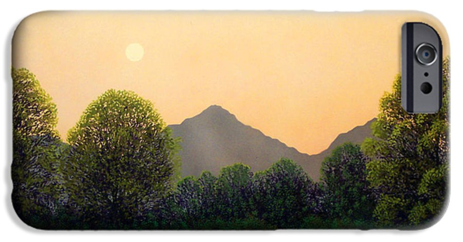 Landscape IPhone 6 Case featuring the painting Morning Light by Frank Wilson